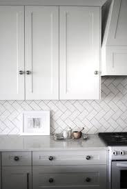kitchen backsplashes light grey glass subway tile grey tiles