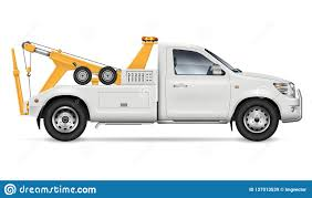 100 Tow Truck Vector Realistic Illustration Stock Illustration