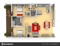 100 A Modern House 3d Cgi Birds Eye View Floorplan Of A Modern House Or Apartment