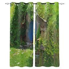 grün wiese haus natur landschaft fenster vorhang schlafzimmer küche wohnzimmer dekoration artikel fenster vorhänge für wohnzimmer