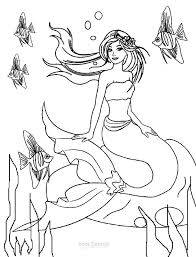 Barbie Mermaid Princess Coloring Pages
