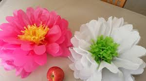 Simple Flower Making With Tissue Paper How To Make Flowers