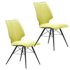 style home 2er stühle set esszimmer wartezimmer büro gelb