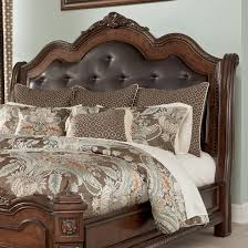 Ortanique Dining Room Chairs by Millennium Ledelle King Cal King Sleigh Headboard With Brown