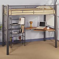 metal loft bed with desk laluz nyc home design