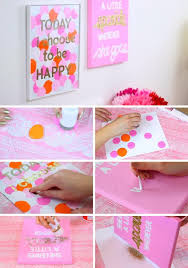 DIY Easy Simple Dotted Wall Canvas