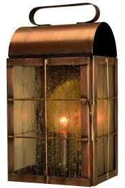 new rustic wall sconce outdoor light copper lantern
