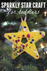 Sparkly Star Craft For Toddlers Toddler Christmas CraftsChristmas ActivitiesHoliday