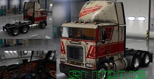 Freightliner FLB Reskin With Sherman Bros. Paintjob Mod (1 ...