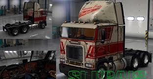 100 Sherman Bros Trucking Freightliner FLB Reskin With Paintjob Mod American
