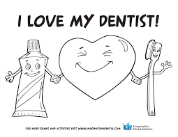 Dentist And Kid In The Dental Surgery Coloring Pages Page Printable Educations