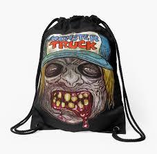 Monster Truck Zombie Art Design Monster