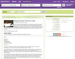 This Sample Interview Thank-you Letter Shows How You Can ... Resume Housekeeper Housekeeping Sample Monster Com Free Cover Letter Samples In Word Template Accounting Pdf Download For A Midlevel It Developer Monstercom Epub Descgar Unique India Search Atclgrain Search Rumes On Monster Kozenjasonkellyphotoco 30 Best Job Sites Boards To Find Employment Fast Essay Writing Cadian Students 8th Edition Roger Templates Lovely