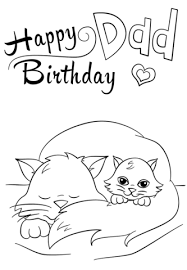 Click To See Printable Version Of Happy Birthday Dad Coloring Page