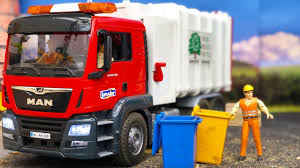 100 Garbage Trucks In Action TOY Garbage TRUCK In Action Bruder Toys Truck And Tractor Video
