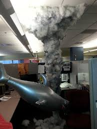 Halloween Cubicle Decorating Contest Ideas by Cubicle Sharknado Best Coworker Ever Cubicle Stuffing And