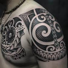 Maori Tattoo Chest And Arm