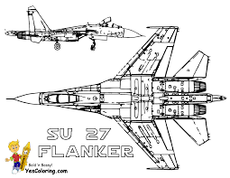 Army Jets Colouring Pages Page 3