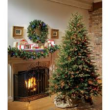 Dunhill Fir Christmas Trees by Greenfields Sutherland 7 1 2 Ft H Multicolored Prelit Artificial