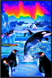 Arctic Winter Black Light Poster