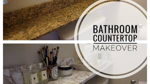 DIY Marble | Bathroom Countertop Makeover - YouTube Ideas Bath Countertop Vanity Countertops Towel Bathroom Corner Unit Diy Painted Sink Blesser House Tag Archived Of Outdoor Kitchen Depth Likable Temporary How To Make Wood That Look Insanely Expensive Must Cabinet Lighting Mirror Diy Small Modern Ten June Custom Grey Reclaimed Creative Decoration Modular Cabinets Hgtv Glacier Bay 201 Wwwmichelenailscom Vanities Unique Home Only Vessel Inches Depot Without Meas