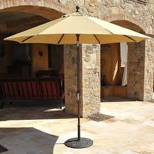 Tilt Patio Umbrella With Base by 9 U0027 Auto Tilt Aluminum Galtech Patio Umbrella Ipatioumbrella Com
