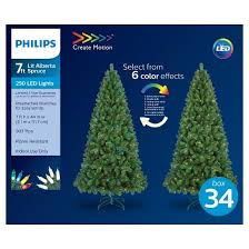 7ft Artificial Christmas Tree With Lights by Philips 7ft Prelit Full Artificial Christmas Tree Alberta Spruce