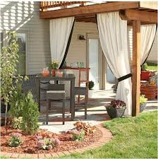 extraordinary outdoor patio curtains in furniture home design