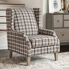 Scott Living Rustic Neutral Brown Weathered Gray Accent Chair