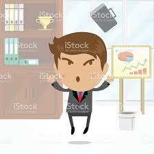 arriere plan de bureau animé personnage de dessin animé homme daffaires avec bureau en