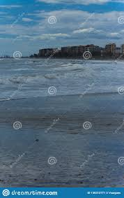 100 Apartments Benicassim Sea Stirred By The Wind On The Beach Stock Image Image Of Fall