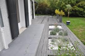 design jardins paysagiste concepteur terrasse en dalles et bois