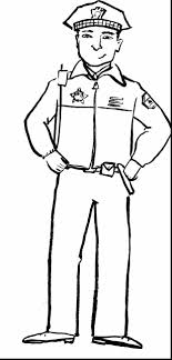 Incredible Police Car Coloring Pages With Police Officer Coloring