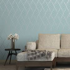 top teal wallpaper living room interior design ideas classy simple