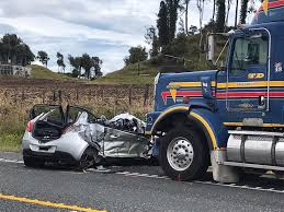 100 Truck Accident Today Four People Injured In Crash Involving Car And Truck Near Rotorua