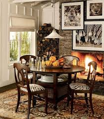 Unique Dining Room Decoration With Zebra Print Chair