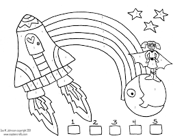 Coloring PagesExquisite Free Printable Color Number Pages Space Girl By