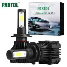 aliexpress buy partol s5 h7 car led headlights 72w 8000lm