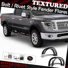 For 2017-2018 NISSAN TITAN FENDER FLARES TEXTURED Pocket-Riveted ... Aev Ram High Mark Front Fender Flares Free Shipping T5i G2 Pockrivet Truck Hdware Egr Bolton Look Matte Black Toyota Hilux Bushwacker Pocket Style Set Of 4 Custom 52017 F150 Raptor Bolton Addicts Shopeddies 2093182 Boss Rough Country Flat Ff511 Fender Flares Bushwacker Pocket Style Vw Amarok Wrivets For 0917 Dodge 1500 201415 Sca Gmc Pocketstyle Performance