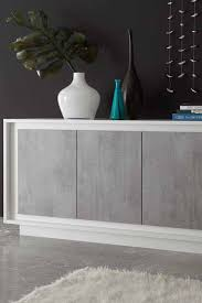 modernes sideboard fregato in weiß beton grau sideboard
