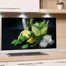glasrückwand küche cocktailbar 80x40cm spritzschutz küche