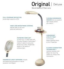 Verilux Floor Lamp Bulbs by Verilux Original Natural Spectrum 27 Watt Deluxe Floor Lamp Burl
