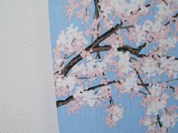 Cherry Blossom Curtain Blue by Japanese 60 U2033 Noren Doorway Curtain Room Divider Tsurugajo Castle