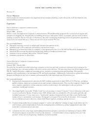Resume Sample For Career Change Of Samples