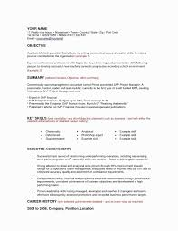 Sample Project Manager Resume Objective Inspirational Change Career Unique Template