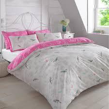 Duvet Cover with Pillowcase Bedding Set Vintage Bird Toile Floral