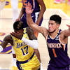 Lakers irate after 'dirty play' by Devin Booker in garbage time
