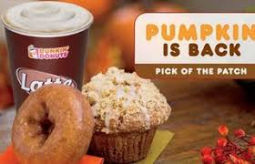 Pumpkin Spice Latte Dunkin Donuts Ingredients by Dunkin Donuts And Starbucks Pumpkin Pitfalls It Sux To Be Fat