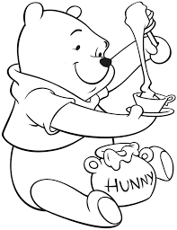 Winnie The Pooh Coloring Pages Printable Invitation