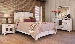 Pueblo White Bedroom Furniture Collection Southern Creek Rustic With Prepare 4